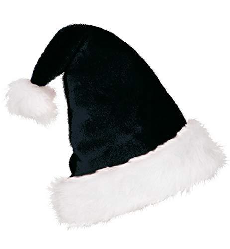KarnevalsTeufel Mütze Nikolaus Plüsch schwarz-weiß Nikolausmütze Weihnachten Kopfbedeckung