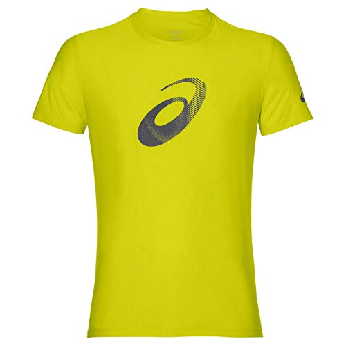ASICS Graphic SS Top Camiseta, Hombre, Sulphur Spring/Dark Grey, XXL