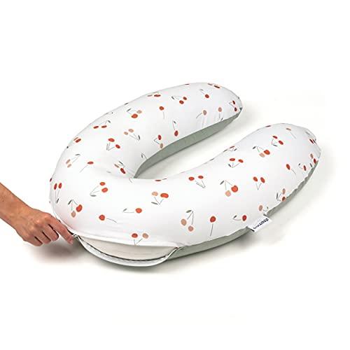 Doomoo Funda de cojín de lactancia de 180 cm – Funda de repuesto para nuestro clásico cojín de lactancia – Lavable y extraíble para que puedas utilizar tu almohada multifunción a diario.