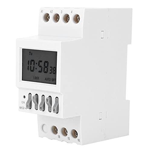 Weikeya Interruptor de Temporizador de Alta precisión, AC-15 220V 3A 220V 50 / 60Hz 16A Función de Tiempo con plástico Retardante de Llama