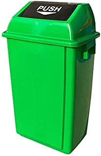 LONGren Trash Can Environmental Garbage and Recycling Bin, Dual-Action Swing Lid Garbage Bin for Home, Kitchen, and Bathro...