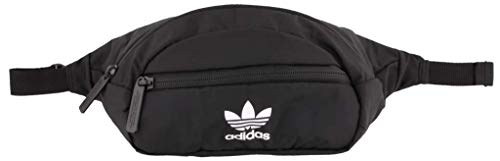 adidas Originals Unisex National Waist Pack / Fanny Pack / Travel Bag, Black/White, ONE SIZE