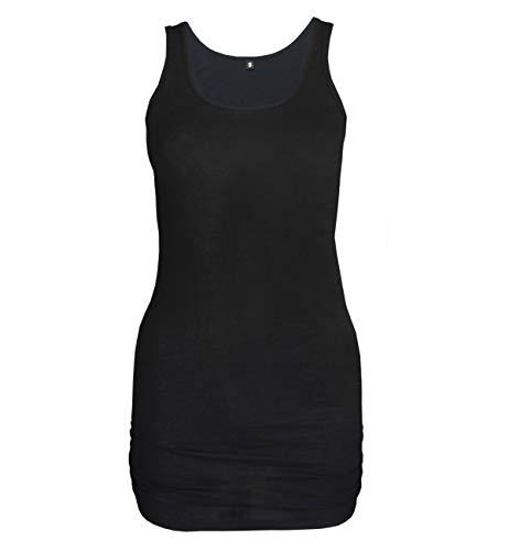 Natural Born Yogi Damen Yoga Tank-Shirt Wonderful, Schwarz_Word, S