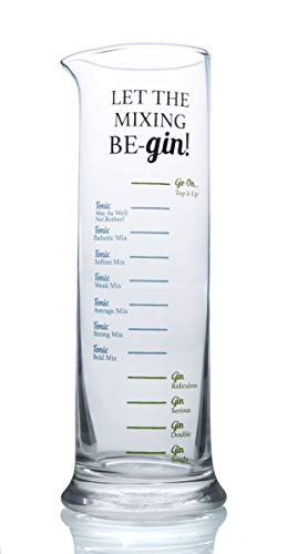 Boxer Gifts Let The Mixing Be Gin Spirit Messgerät, 7,5 x 16 cm