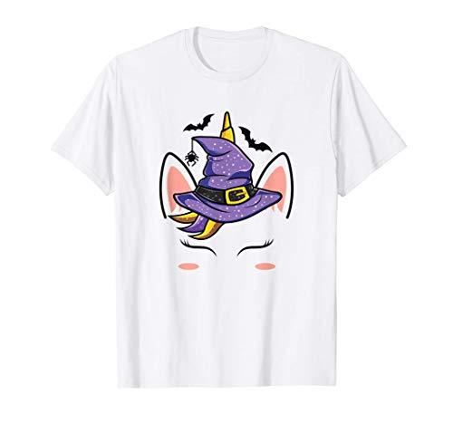 Bruja del unicornio - Disfraz de Halloween para niñas Camiseta