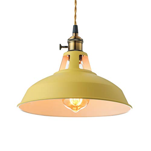 KWOKING Lighting Industrial 1 Light Pendant Lamp Modern...