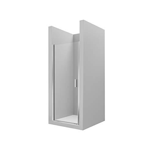 Mampara frontal ducha de 1 hoja batiente Ura PE Roca, cristal transparente...