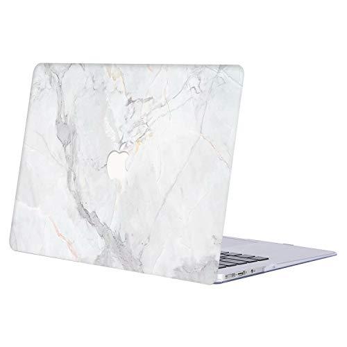 AQYLQ Funda para 2018 2019 2020 MacBook Air 13 Pulgadas A1932/A2179, Cubierta de Plástico Dura Case Carcasa para Nuevo MacBook Air 13 con Retina Pantalla y Touch ID,R-873 Mármol Blanco
