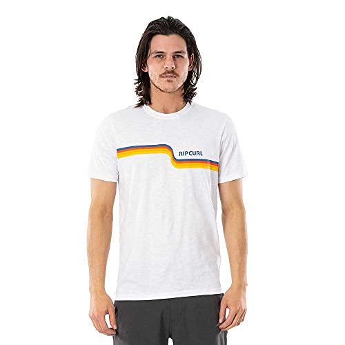 Rip Curl Camiseta de manga corta de algodón para hombre Surf Revival...