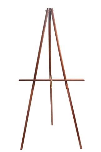 """66"""" Wooden Tripod Display Floor Easel & Artist Easel, Adjustable Wood Display Easel for Paintings, Drawings, Signs"""