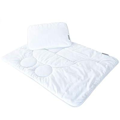Sei Design ropa de cama bebé de primera calidad:1 funda de edredón 60x80 cm + 1 funda de almohada 30x40 cm. Este juego cabe con el juego del edredón y de la almohada para carritos.