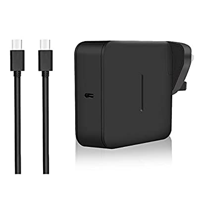 aifulo 65W USB C PD Charger, Universal USB Type C Fast Power Adapter Charger Compatible with Switch, Macbook Pro, Samsung, ASUS, Dell, Lenovo, Acer, HP, Huawei and more USB C Devices