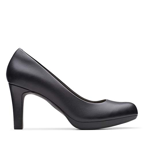 Clarks Damen Adriel Viola Pumps, Schwarz (Black Leather), 38 EU