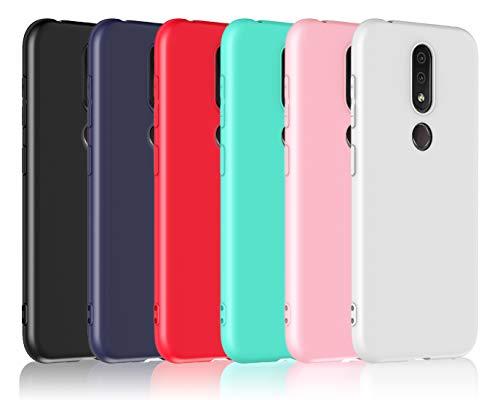 VGUARD [6 Stücke] Hülle für Nokia 4.2, Ultra Dünn Tasche Schutzhülle Weiche TPU Silikon Gel Handyhülle Hülle Cover (Schwarz + Blau + Rot + Grün + Rosa + Transparent)