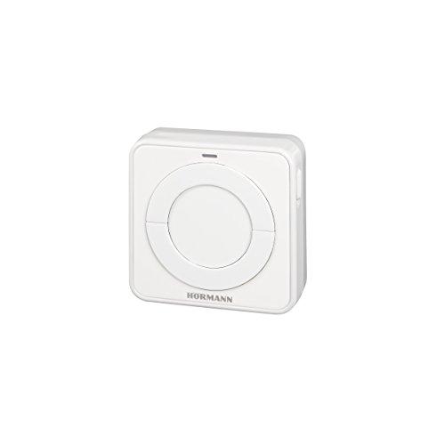 Hörmann 4511652 Wandtaster/Funk – Innentaster FIT 2-1 BS ~ für 2 Funktionen, Anschlussmöglichkeit von max. 2 Bedienelementen über Kabel, z.B. Schlüsseltaster ~ Maße: 8 x 8 x 4,5 cm