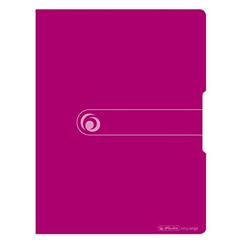Herlitz 11226180 Sichtbuch A4, 20 Klarsichthüllen, aufgeklebtes Rückenschild, opak beere