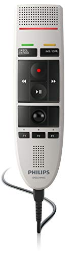 Philips LFH3200 SpeechMike III Pro (Push Button Operation) USB Professional PC-Dictation Microphone (Renewed)