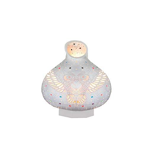 enogoods Kürbis Tischlampe Nachttischlampe | glänzendes Licht und Schatten-Vintage-Stil | authentische orientalische Kürbis-Lampe (owl)