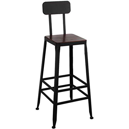 Chaise de bar Table haute simple chaise de famille rétro Chaise de salle à manger Chaise de café Chaise arrière