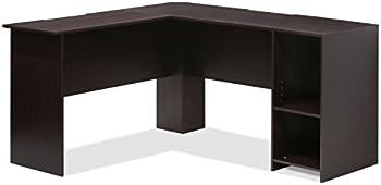 Furinno Indo L-Shaped Desk with Bookshelves