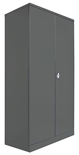 Schrank und Stuhl Werkstattschrank XL Schwerlastschrank 195x92x50cm Anthrazit