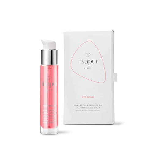 hyapur ® - RED Serum 15ml für intensive Feuchtigkeit, mit Hyaluronsäure und Algenextrakten für Gesicht, Hals und Dekolleté - aus der Hyaluron Algen Serie