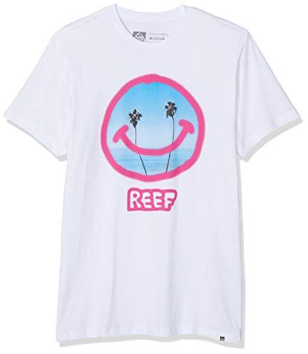 Reef Smile tee Camisa, Blanco (White WHI), Small para Hombre