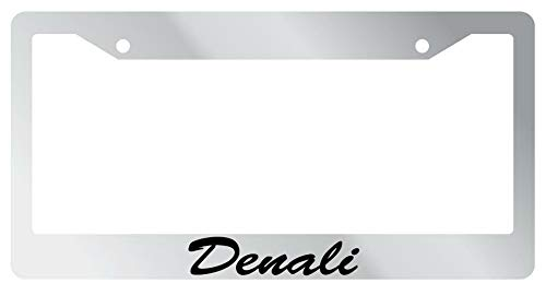 License Plate Frames, License Plate Frame Denali Cursive Auto Accessory Novelty 1982 Applicable to Standard car Unisex-Adult Car Licenses Plate Covers Holders Frames for Plates 15x30cm