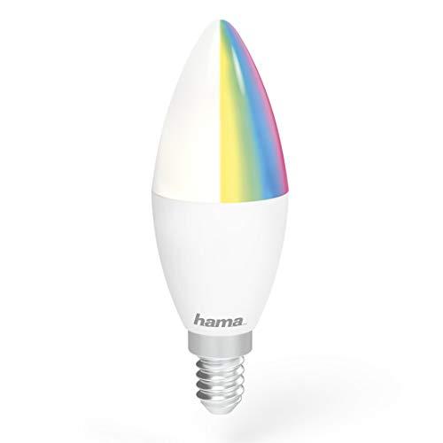 Hama - Bombilla Led Wifi E14, 5.5W. Escoge la el color de luz que más te guste control por voz compatible con Alexa y Google Home