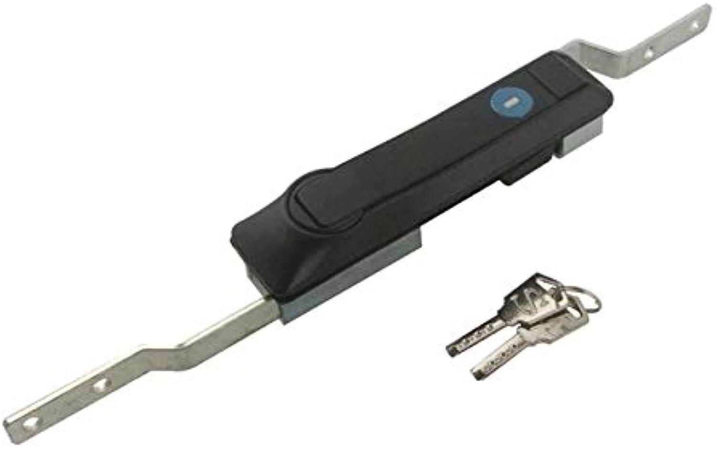 MS828 Metal Rod Control Lock with Keys 144mm Length Cupboard Cabinet Lock  (color  Black)
