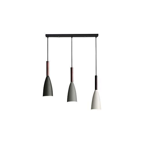 Lámpara colgante nórdica RUIBO Cable colgante ajustable para sala de estar Cocina Café 3 cabezas Lámpara de techo colgante minimalista Luz blanca E27