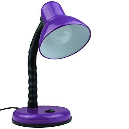 Lámpara de escritorio para sala de oficina Estudio de la lámpara simple lectura del escritorio de la lámpara de la lámpara de oficina dormitorio lámpara de cabecera Noche tipo enchufable, n parpadeo L