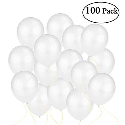 OULII Palloncini lattice bianco di metallico, 12 pollici, confezione da 100