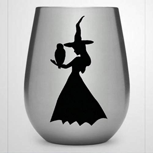 Sale Young Witch auto Sticker,Vinyl Car Decal,Decor for Window,Bumper,Laptop,Walls,Computer,Tumbler,Mug,Cup,Phone,Truck,Car Accessories