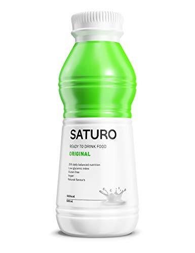 Astronautennahrung SATURO, Original, 500 kcal, Trinkmahlzeit mit Hochwertigem Protein, Mahlzeitersatz Vegan, 12 x 500 ml