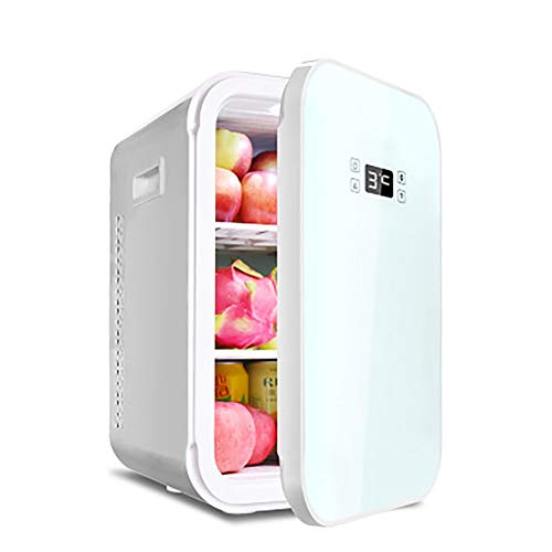 Rzj-njw Mini Nevera de 22 litros/Enfriador y Calentador pequeña Nevera portátil AC/DC Mini refrigerador para el Coche y el hogar, Incluyen estantes extraíbles