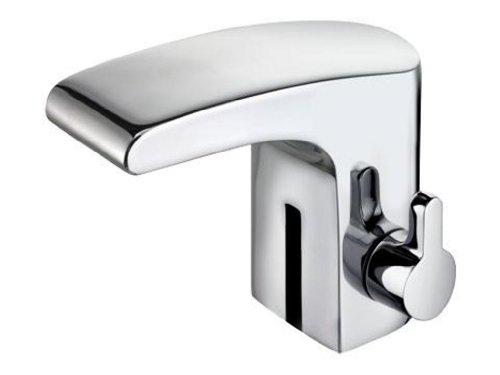 Keuco 51611010100 Waschtischarmatur Elegance, Sensor/Batterie ohne Ablaufgarnitur, verchromt