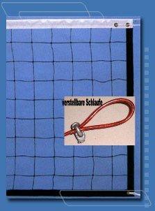 Der Sportler Tolles Volleyballnetz Top-Qualität m.Stahlseil 9,5 x 1m