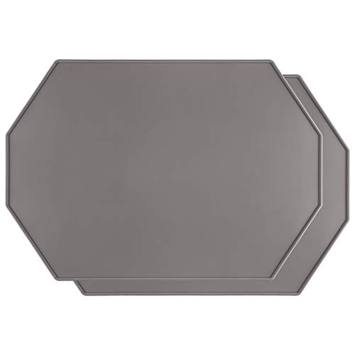 Lazy K Silicone Placemats - Octagon with Raised Edges - Non...