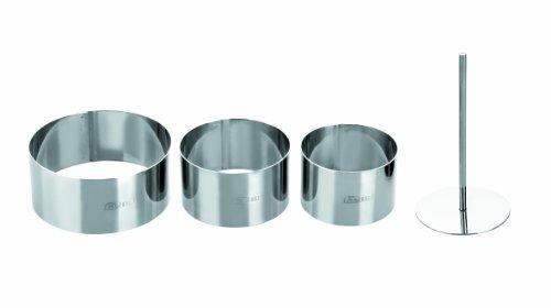 IBILI 716090 - Set di 3 coppapasta Rotondi, in Acciaio Inox, espulsore Incluso