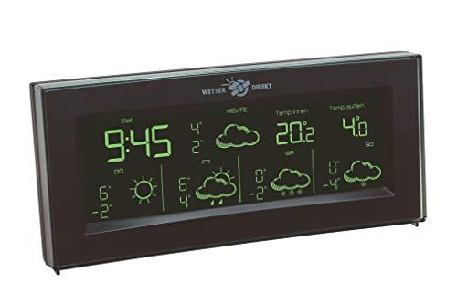 TFA Dostmann AURA Wetterstation, 35.5061.01.IT, Wetterstation Funk mit Außensensor, mit Farbdisplay, Wetterdirekt