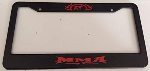 mma license plate frame - 2
