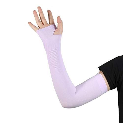 GUIO 1 par de mangas de enfriamiento para brazos de seda de hielo, para correr, conducir y proteger el sol, color 05., tamaño France