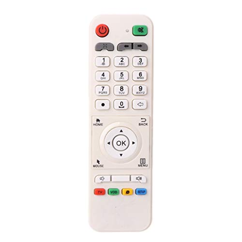 White Remote Control Controller Replacement Compatible with LOOL Loolbox IPTV Box GREAT BEE IPTV and MODEL 5 OR 6 Arabic Box Accessories