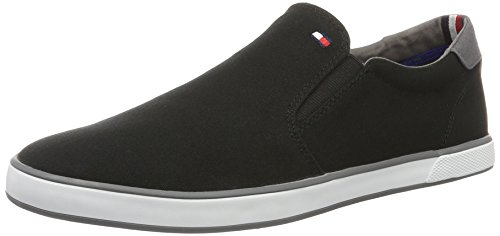 Tommy Hilfiger Herren Iconic Slip ON Sneaker Sneakers, Schwarz (Black 990), 41 EU