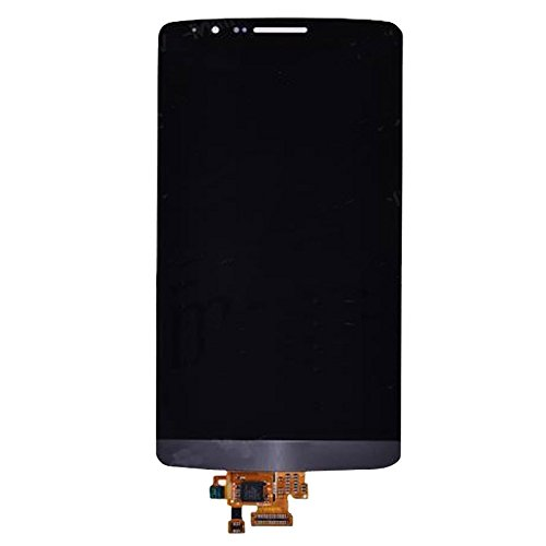 Piezas de Recambio Pantalla LCD + Asamblea de digitalizador de Pantalla táctil Compatible con LG G3 / D850 / D851 / D855 para los teléfonos móviles (Color : Black)