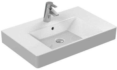 Ideal Standard Furniture Waschbecken Strada K0788MA, weiß Ideal Plus, B: 810, T: 455, 1gelocht Loch-Wäschekorb