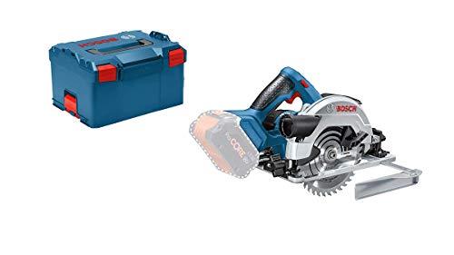 Bosch Professional 06016A2101 Sega Circolare GKS 18V-57 G System, Ø Lama: 165 mm, profondità di Taglio: 57 mm, Batterie e Caricabatteria Non Inclusi, in Valigetta L-BOXX, 18 V