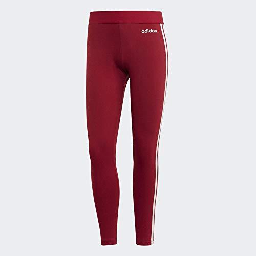 adidas W E 3s Tight Leggings, Damen L rot/weiß