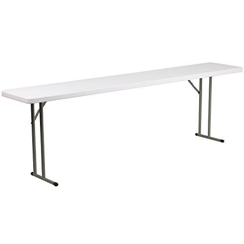 Flash Furniture 8-Foot Granite White Plastic Folding Training Table